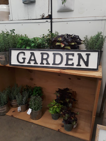 Reclaimed Wood Garden Sign