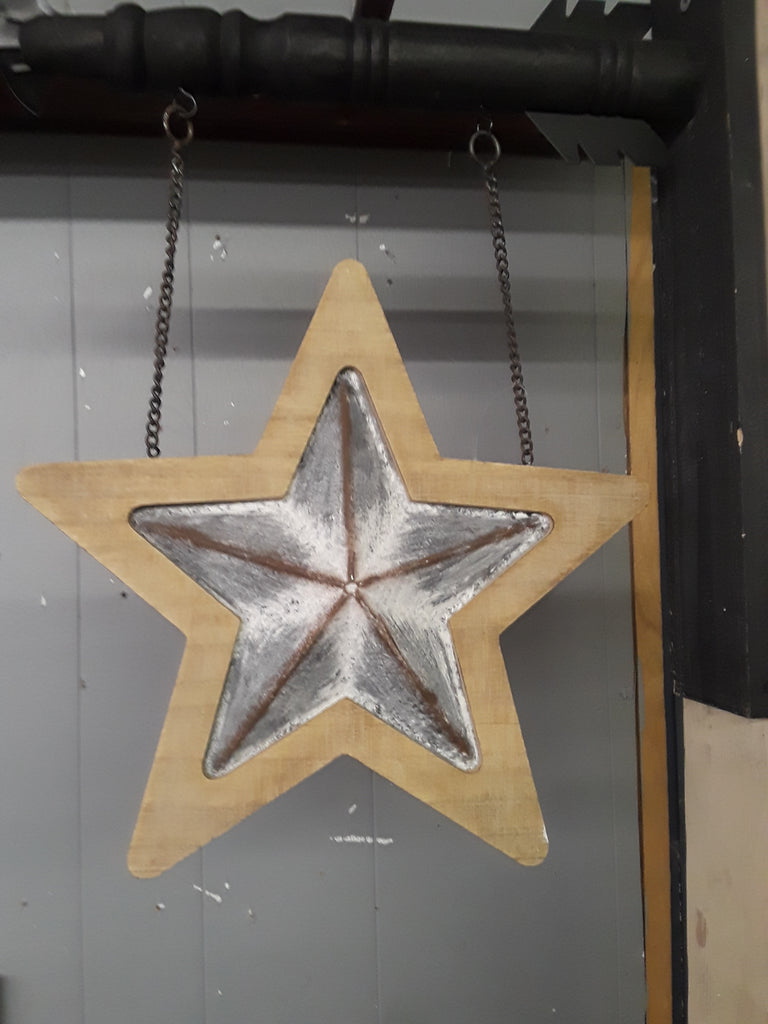Tin & Wood Star