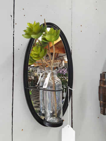 Oval Mirror Bottle Plaque