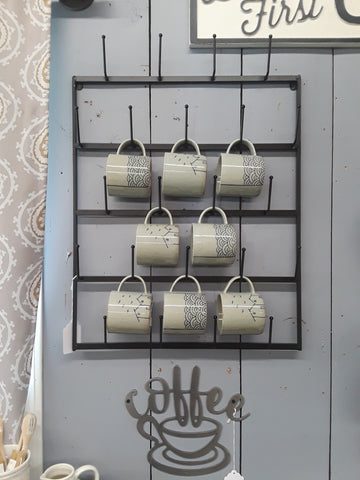 Wall Mounted Coffee Cup Rack