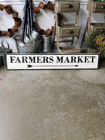 "Reclaimed Wood Farmers Market ""Arrow"" Sign"