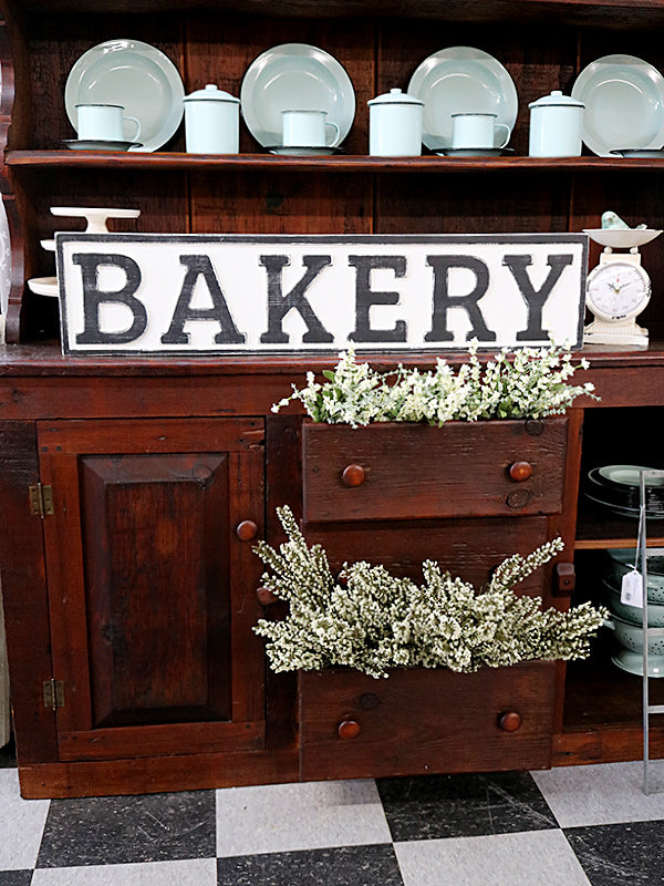 Reclaimed Wood Bakery Sign Revived Furniture And Home Decor