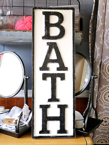 Reclaimed Wood Bath Sign
