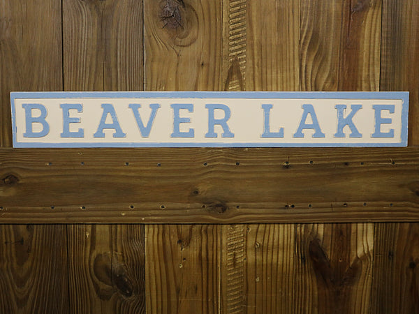 Reclaimed Wood Beaver Lake Sign