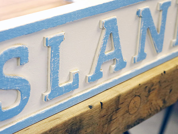 Reclaimed Wood Big Island Pond Sign