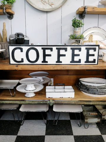Reclaimed Wood Coffee Sign