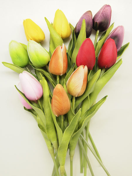 "10"" Real Touch Tulip Buds (Set of 4)"