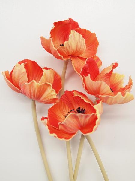"10"" Real Touch Poppy Stems"