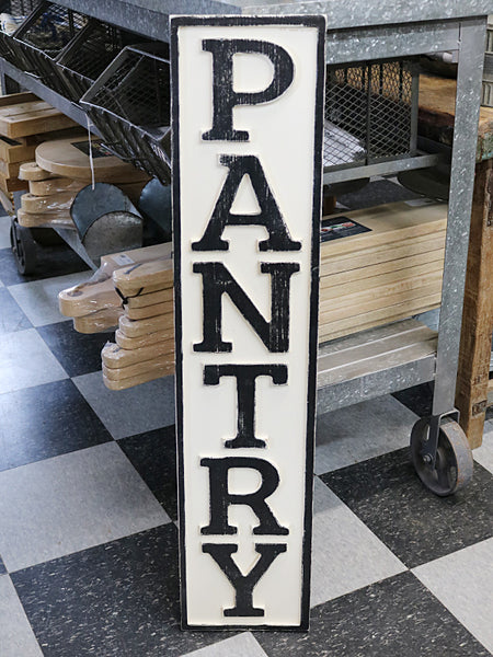 Reclaimed Wood Pantry Sign