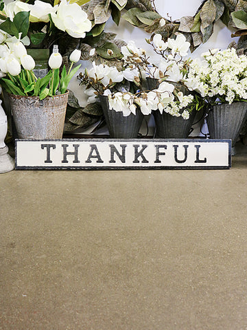 Reclaimed Wood Thankful Sign