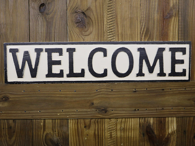 Reclaimed Wood Welcome Sign Revived Furniture And Home Decor