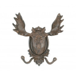 Cast Iron Moose Double Hook