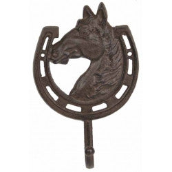 Horse with Horseshoe Hook