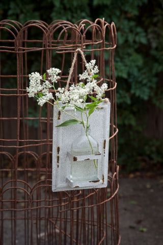 White Hanging Bottle Vase