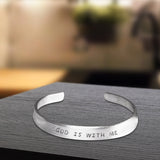 God is With Me Bracelet - One Size Fits All - Made-in-the-USA