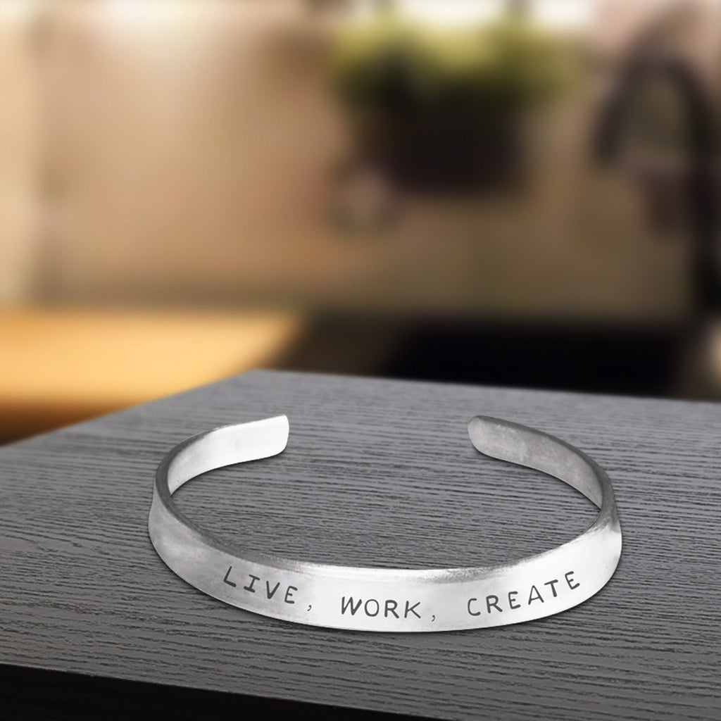 Live, Work, Create Bracelet - One Size Fits All - Made-in-the-USA