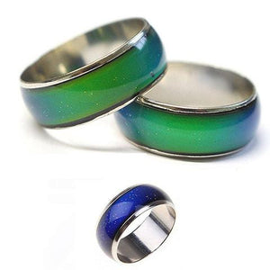 FREE CHANGING COLOR MOOD TEMPERATURE COUPLE RING JEWELRY