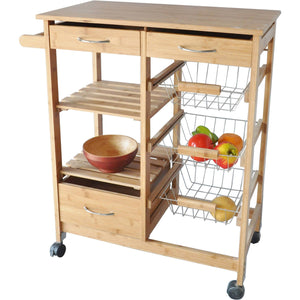 Bamboo Wood Kitchen Cart - Shopatronics - One Stop Shop. Find the Best Selling Products Online Today