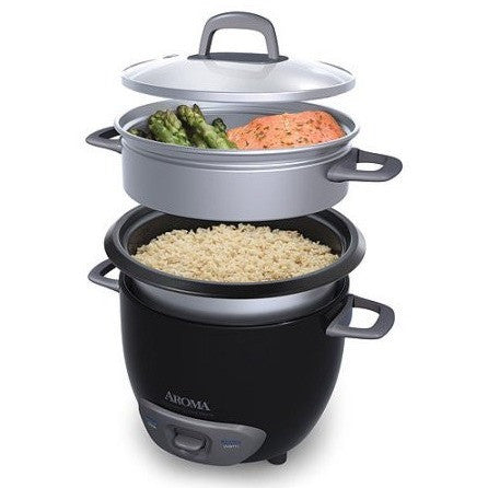 Aroma 6-Cup Pot-Style Rice Cooker and Food Steamer, Black - Shopatronics - One Stop Shop. Find the Best Selling Products Online Today