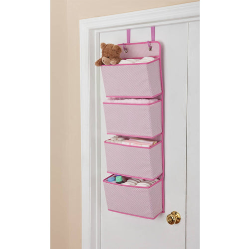 Delta Children 4-Pocket Hanging Wall Organizer, Choose Your Color - Shopatronics
