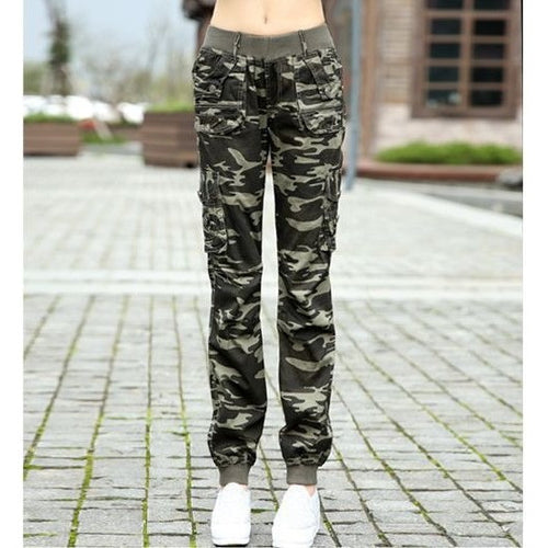 Summer camouflage pants women Camouflage Cargo pants women Military fashion Casual - Loose Baggy pants - Shopatronics