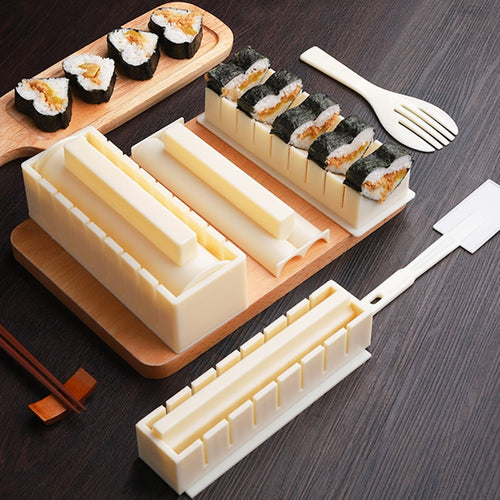 10pcs/Set Easy To Use DIY Rice Ball Sushi Maker Mold