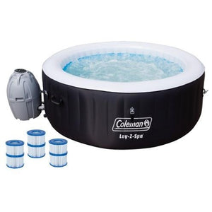 "Coleman 71"" x 26"" Inflatable Spa 4-Person Hot Tub with 6 Filter Cartridges - Shopatronics - One Stop Shop. Find the Best Selling Products Online Today"