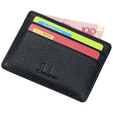 10 Colour Ultra-thin Card Holder Mini wallets small Genuine Leather purse real leather Card Case With 4 Slots Fashion Style New - Shopatronics - One Stop Shop. Find the Best Selling Products Online Today