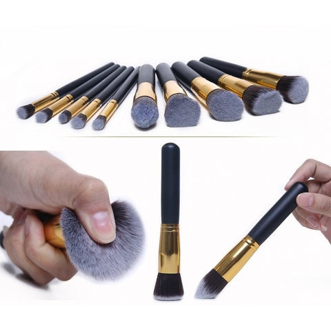 10 pcs Professional Makeup Brush Set Maquiagem Beauty Foundation Powder Eyeshadow Cosmetics Make Up Brushes Kabuki Brush Tool - Shopatronics - One Stop Shop. Find the Best Selling Products Online Today