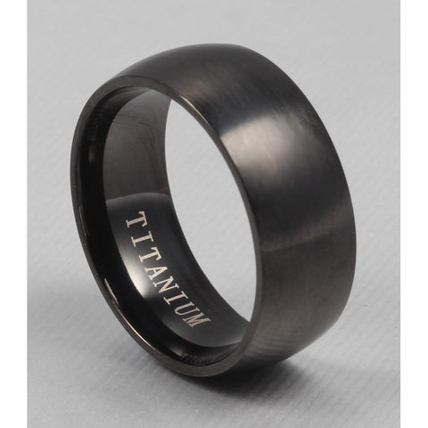 100% Titanium Rings For Men 8mm Cool Black Men' Ring Jewelry Wedding Engagement Male Gift sales - Shopatronics - One Stop Shop. Find the Best Selling Products Online Today