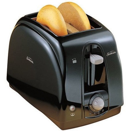 Sunbeam 2-Slice Cool Touch Toaster, Black - Shopatronics