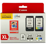 Canon PG-245XL/CL-246XL Inkjet Print Cartridges and 50 Sheets Glossy Photo Paper Combo Pack (8278B005) - Shopatronics - One Stop Shop. Find the Best Selling Products Online Today