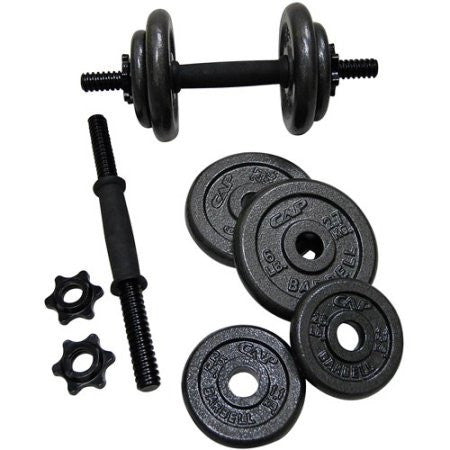 CAP Barbell 40 lb. Adjustable Cast Iron Dumbbell Set - Shopatronics - One Stop Shop. Find the Best Selling Products Online Today