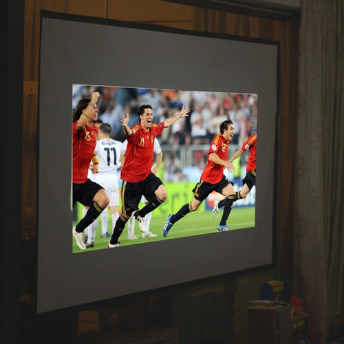 16:9 120inch Projector Screen 9x16 Finished Edge White Curtain Simple Screen Portable Projection Screen - Shopatronics - One Stop Shop. Find the Best Selling Products Online Today