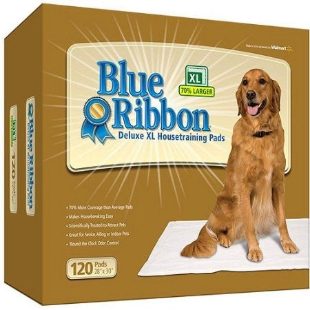 Blue Ribbon Deluxe XL Dog Pads, 120-Count - Shopatronics - One Stop Shop. Find the Best Selling Products Online Today