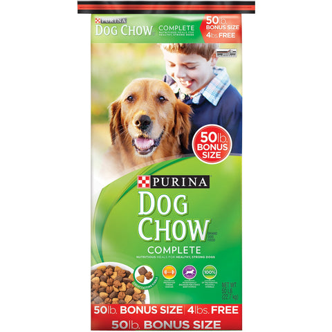 Purina Dog Chow Complete Dog Food Bonus Size 50 lb. Bag - Shopatronics