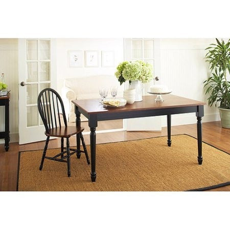 Better Homes and Gardens Autumn Lane Farmhouse Dining Table, Black and Oak - Shopatronics - One Stop Shop. Find the Best Selling Products Online Today