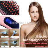 1pcs hair straightener comb electric brush piastre per capelli flat iron plancha pelo profesional lcd hair comb hair brush - Shopatronics - One Stop Shop. Find the Best Selling Products Online Today