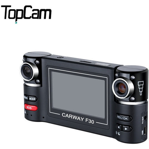 "2.7"" TFT LCD HD 1080P with Double Cameras Rotated Lens Car DVR Vehicle Digital Video Recorder Support Night Vision Function - Shopatronics - One Stop Shop. Find the Best Selling Products Online Today"