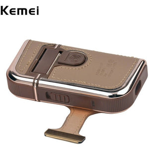 2 in 1 Kemei Men's Electric Shavers Razors Vintage Leather Wrapped Rechargeable Mustache Beard Trimmer - Shopatronics - One Stop Shop. Find the Best Selling Products Online Today