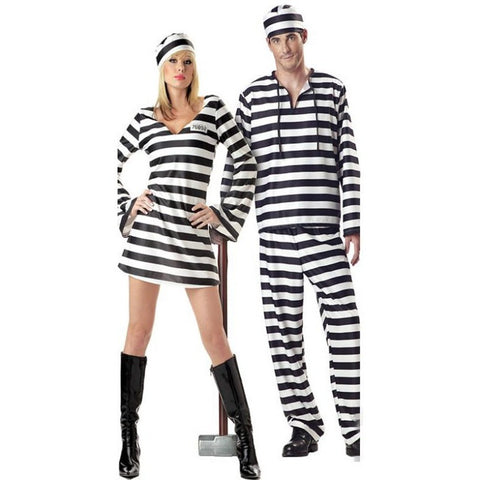 Direct Selling Hot Sale Halloween Laides Black And White Stripe Bloody Convict Zombie Prisoner Costume - Shopatronics - One Stop Shop. Find the Best Selling Products Online Today