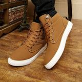 Hot Men Shoes Sapatos Tenis Masculino Male Fashion Autumn Winter Leather Fur Boots For Man Casual High Top Canvas Men Shoes - Shopatronics