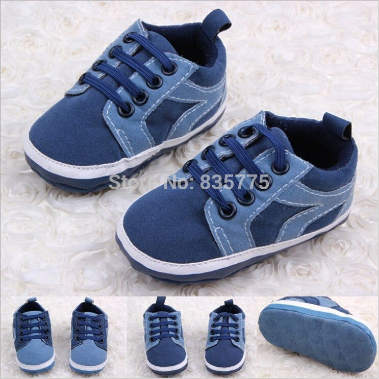 New Style Handsome Baby Kids Boys First Walkers Lace-Up Sports Shoes Newborn Bebe Toddler Soft Bottom Anti-slip Footwear - Shopatronics