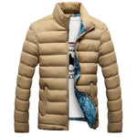 Newest Mens Brand Solid Winter thick cotton Jacket Men Stand Collar Fashion Quality Parka Men Overcoat - Shopatronics