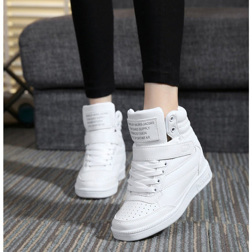 Autumn and winter high heels ankle boots women casual shoes increased the wedge heel wedge shoes high-top mixed - Shopatronics - One Stop Shop. Find the Best Selling Products Online Today