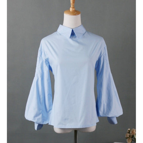 Vintage blusas patchwork white Casual Shirt women tops cotton lantern sleeve blouse - Shopatronics - One Stop Shop. Find the Best Selling Products Online Today