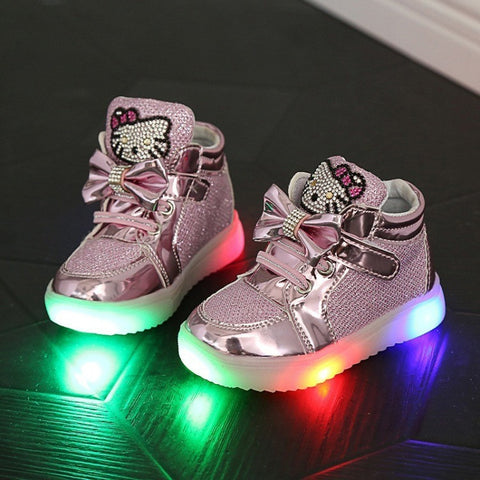 1 to 5 years old baby girls shoes cartoon kt fashion boots LED kids light shoes children's casual shoes kids sneakers - Shopatronics - One Stop Shop. Find the Best Selling Products Online Today