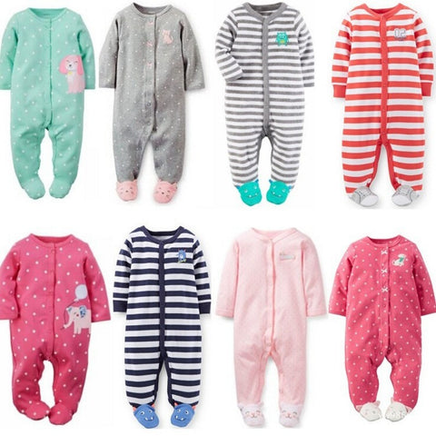 Baby Clothes Pajamas Newborn Baby Rompers  Infant cotton Long Sleeve Jumpsuits Boys Girl Spring Autumn bebes Clothes Wear - Shopatronics - One Stop Shop. Find the Best Selling Products Online Today