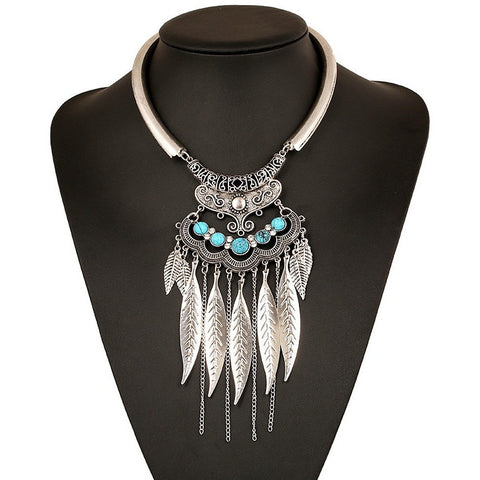 Fashion Bohemian Gypsy Colar Vintage Collier Maxi Statement Necklaces & Pendants Beads Leaf Tassel Choker Necklace Collares - Shopatronics - One Stop Shop. Find the Best Selling Products Online Today
