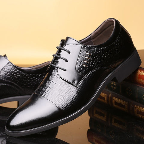 Genuine Leather Men Dress Shoes, Leather Shoes, Casual Design Men Flats, Men Oxfords - Shopatronics